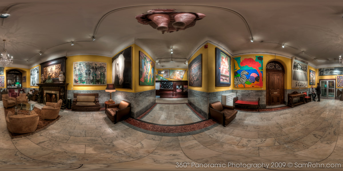 Chelsea Hotel Lobby :: New York City  :: 360° Panorama