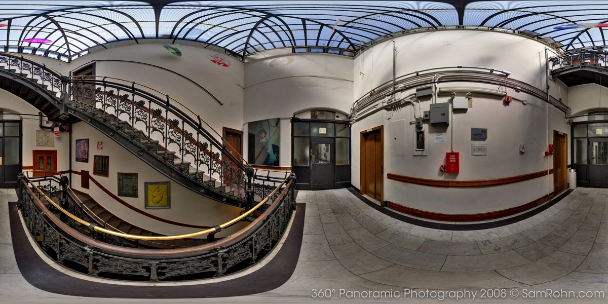 Chelsea Hotel Stairwell :: New York City  :: 360° Panorama