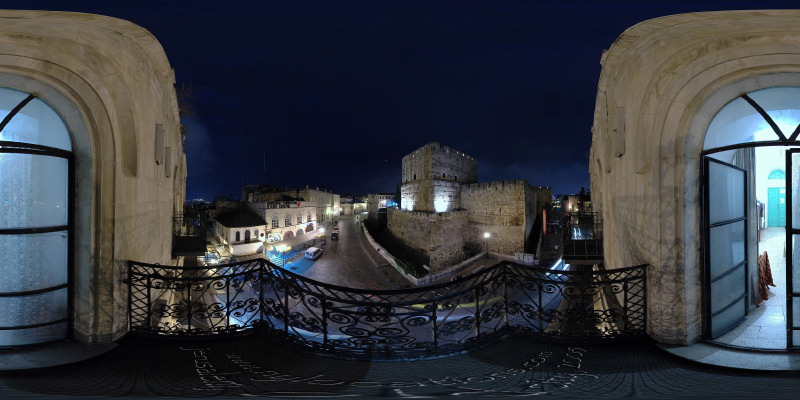 Petra Hostel Balcony - Jerusalem, Old City - 360°